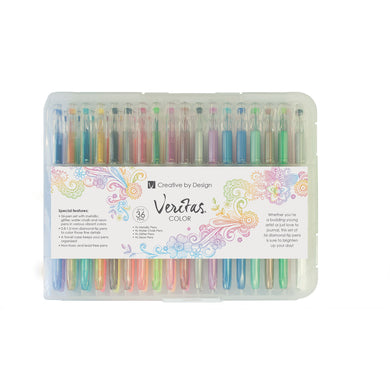 Assorted Gel Pen (Set Of 36)(Coloring Pens)