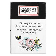 Load image into Gallery viewer, 101 Blessings Teach Inspire Motivate The Heart Of A Teacher (Boxed Cards)