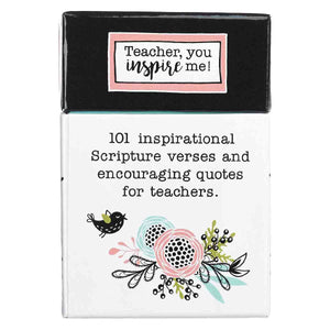 101 Blessings Teach Inspire Motivate The Heart Of A Teacher (Boxed Cards)