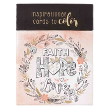 Load image into Gallery viewer, Faith Hope Love (Coloring Boxed Cards)