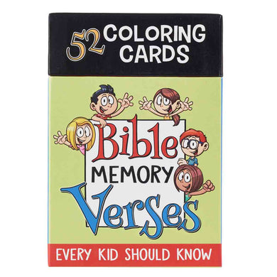 Bible Memory Verses (Coloring Boxed Cards)