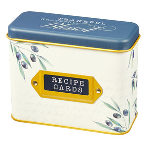 Thankful, Grateful, Blessed Recipe Cards (Cards In Tin)