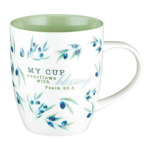Psalm 23:5 My Cup Overflows With Blessings (Ceramic Mug)
