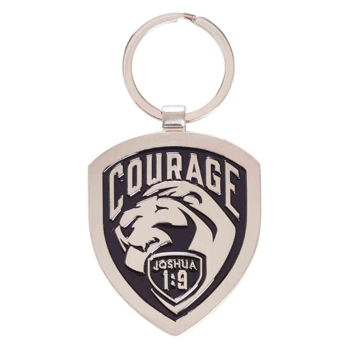 Joshua 1:9 Courage (Metal Keyring)