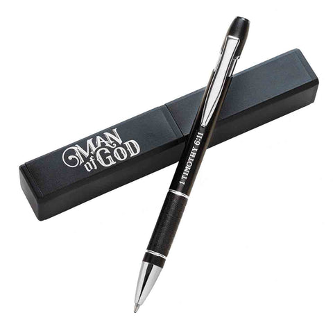 1 Timothy 6:11 Man Of God (Boxed Set Pen)