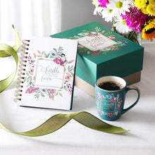 Load image into Gallery viewer, Let Your Faith Be Bigger Than Your Fear Gift Set (Journal / Mug Boxed Set)