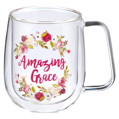Amazing Grace (Double-Wall Glass Mug)