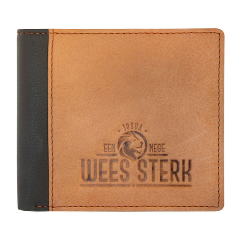 Wees Sterk Joshua 1:9 (Genuine Leather Wallet)