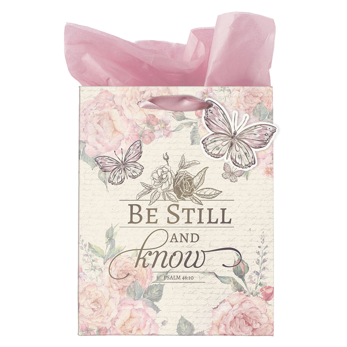 Be Still & Know Butterfly (Medium Gift Bag)