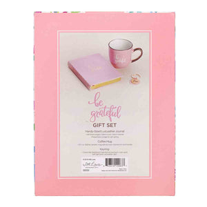 Be Grateful Women Gift Set (Journal / Mug / Keyring Boxed Set)