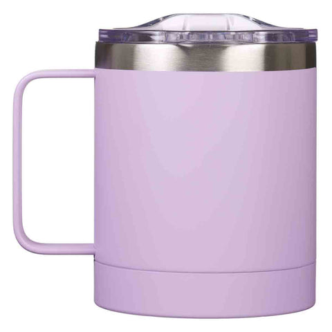 Load image into Gallery viewer, Be Brave Camp Mug In Lavender (Stainless Steel Mug With Handle)
