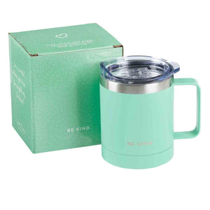 Be Kind Camp Mug In Teal (Stainless Steel Mug With Handle)