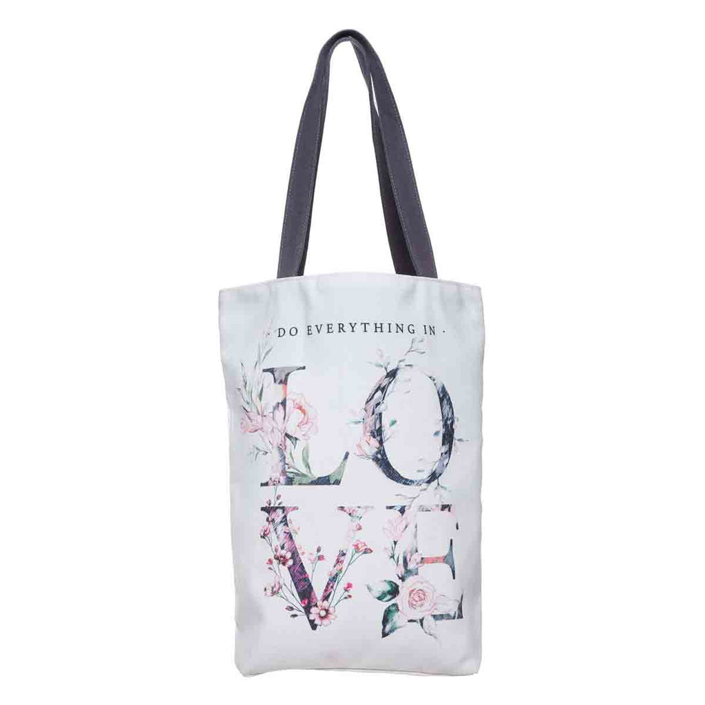 Do Everything In Love (Cotton Canvas Tote Bag)