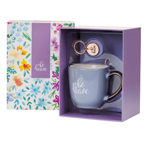 Load image into Gallery viewer, Be Brave (Mug / Keyring / Journal Boxed Set)