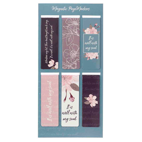 It Is Well With My Soul Floral (Magnetic Pagemarkers)