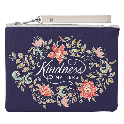 Kindness Matters (Faux Leather Zipper Pouch)