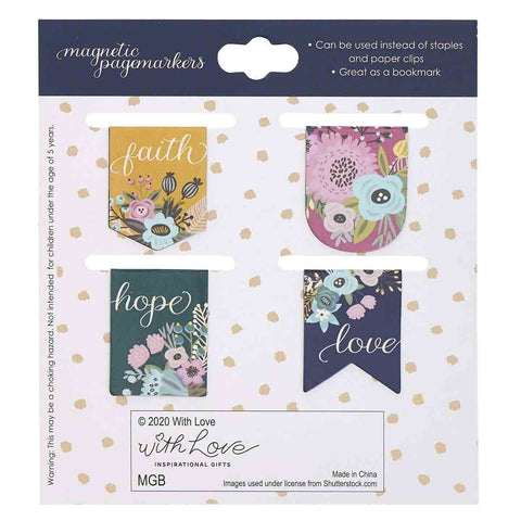 Load image into Gallery viewer, Faith Hope Love (Magnetic Pagemarker Set)