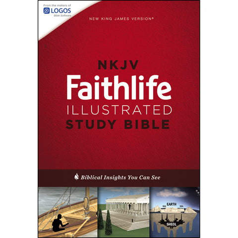 NKJV Faithlife Illustrated Study Bible Hardcover Red Letter Ed (Hardcover)