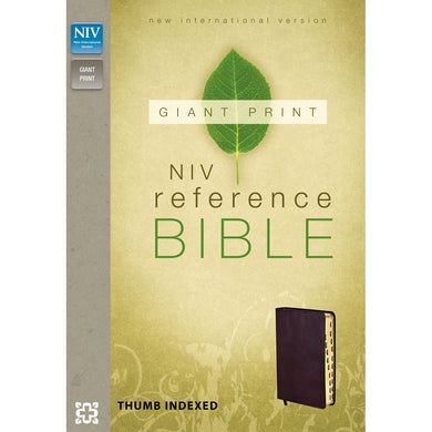 NIV Reference Giant Print Indexed Burgundy (Bonded Leather)
