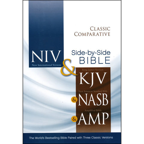 NIV / KJV / NASB / Amplified Classic Comparative Parallel Bible (Hardcover)