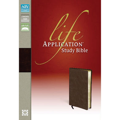 NIV Life Application Study Bible Distressed Brown (Bonded Leather)