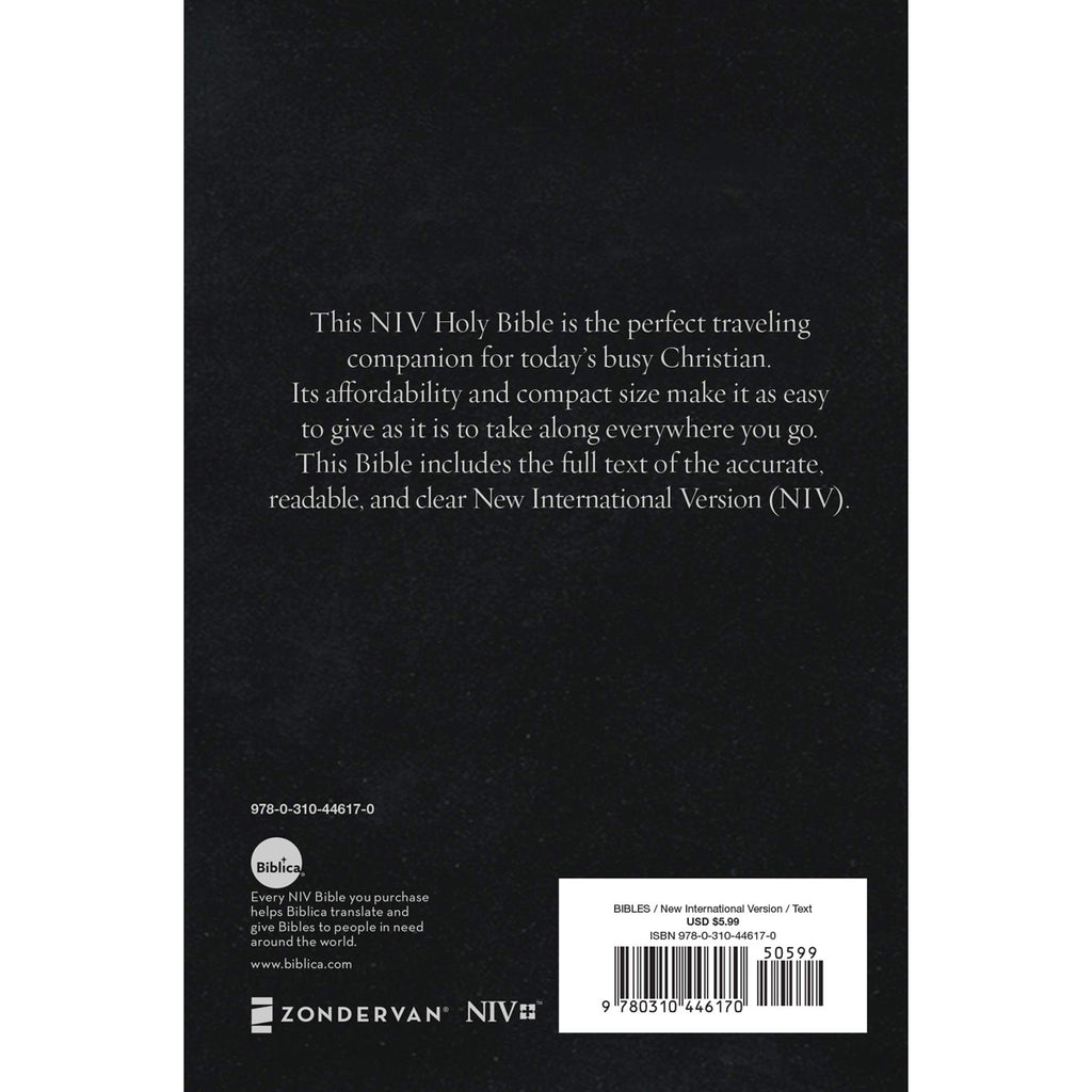 NIV Holy Bible Compact Black (Paperback)