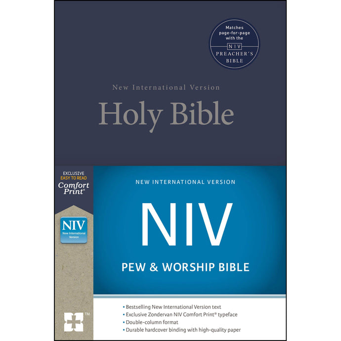 NIV Pew And Worship Bible Blue (Comfort Print)(Hardcover)