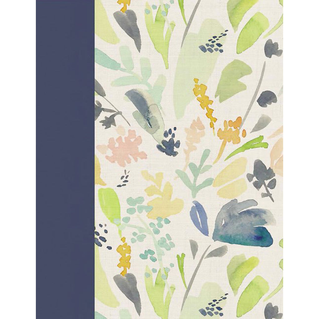 NIV Beautiful Word Coloring Large Print Bible Navy Cloth Over Board (Hardcover)
