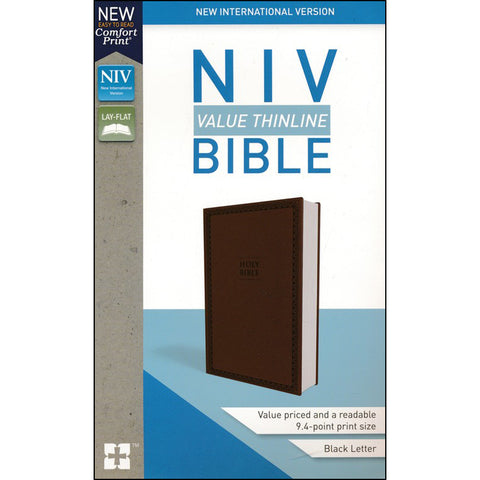 Load image into Gallery viewer, NIV Value Thinline Bible Brown (Comfort Print)(Imitation Leather)