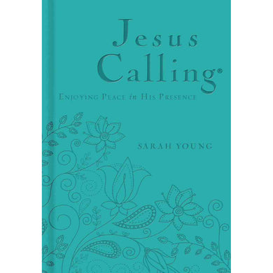 Jesus Calling: Deluxe Edition Teal (Faux Leather)