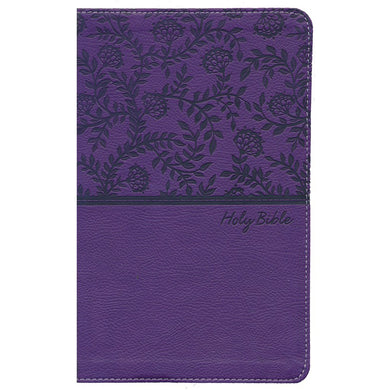 NKJV Deluxe Gift Bible Red Letter Purple (Comfort Print)(Imitation Leather)