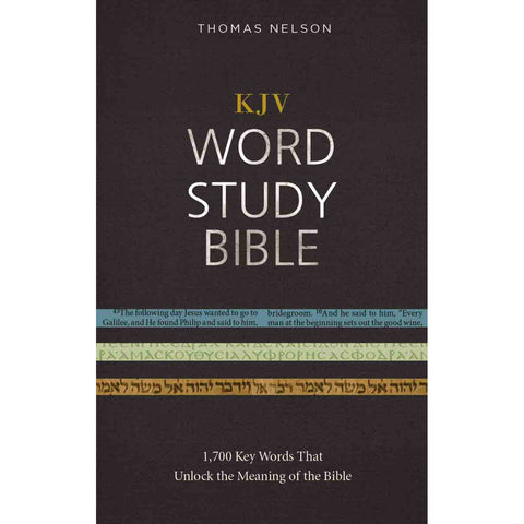 KJV Word Study Red Letter Edition Bible (Hardcover)
