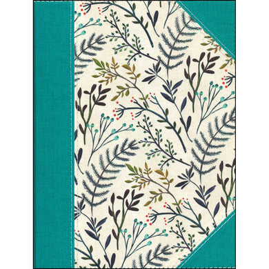 NKJV Journal The Word Bible Blue Floral Cloth Over Board (Hardcover)