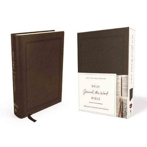NKJV Journal The Word Bible Red Letter Edition Brown (Bonded Leather)