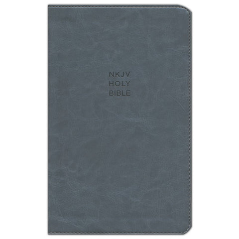 NKJV Reference Bible Personal Size Red Letter Giant Print Gray (Imitation Leather)