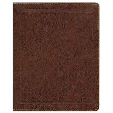 KJV Journal: The Word Bible Red Letter Brown (Comfort Print)(Bonded Leather)