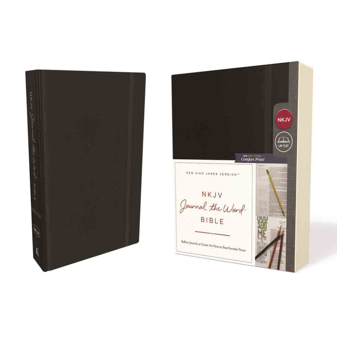 NKJV Journal The Word Bible Red Letter Edition Black (Comfort Print)(Hardcover)