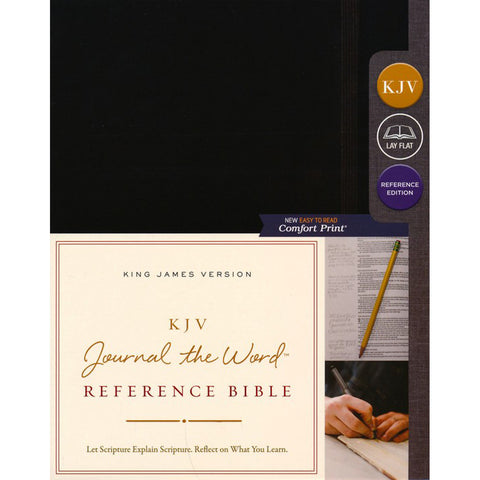 KJV Journal: The Word Reference Bible Red Letter Edition Black (Comfort Print)(Hardcover)