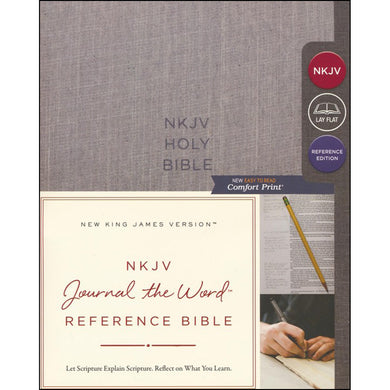 NKJV Journal The Word Ref Bible Red Letter Cloth Gray (Comfort Print)(Hardcover)