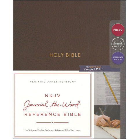 NKJV Journal The Word Reference Bible Red Letter Ed Brown (Imitation Leather)