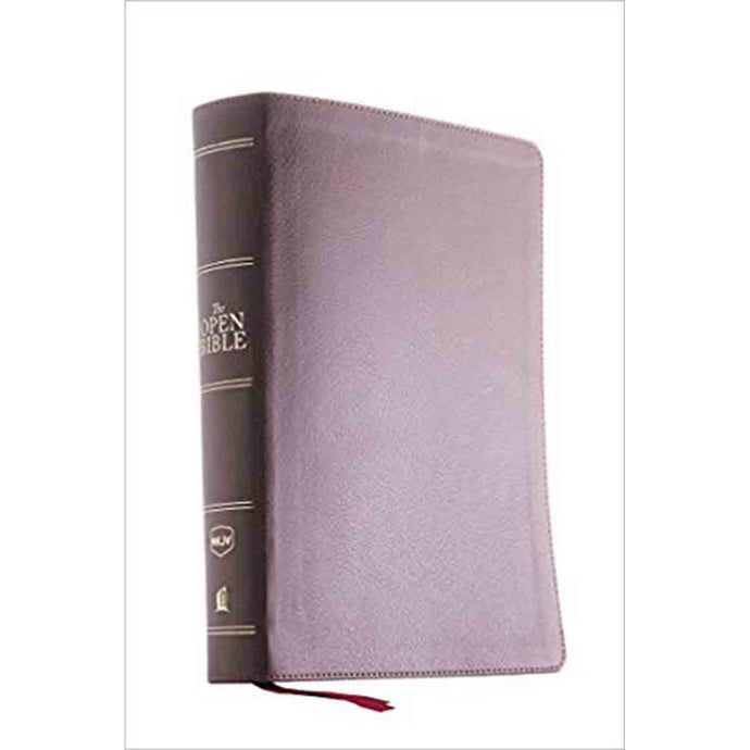 NKJV Open Bible Imitation Leather Red Letter Edition Complete Reference (Comfort Print)(Flexcover)