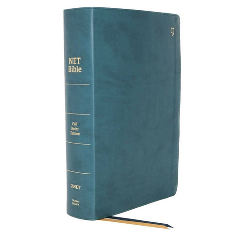 NET Bible Full-Notes Edition Indexed Teal (Comfort Print)(Imitation Leather)