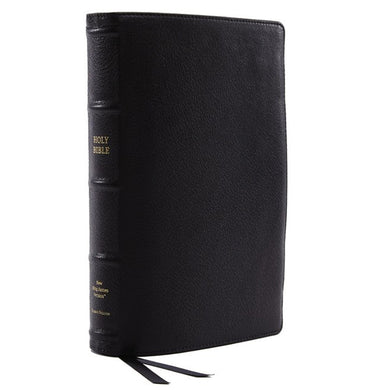 NKJV Ref C / Column Red Letter Goatskin Black (Comfort Print)(Genuine Leather)