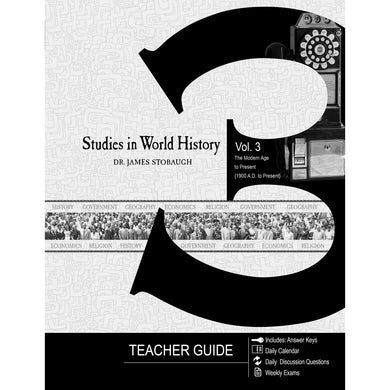 Studies In World History Volume 3 Teacher Guide (Paperback)