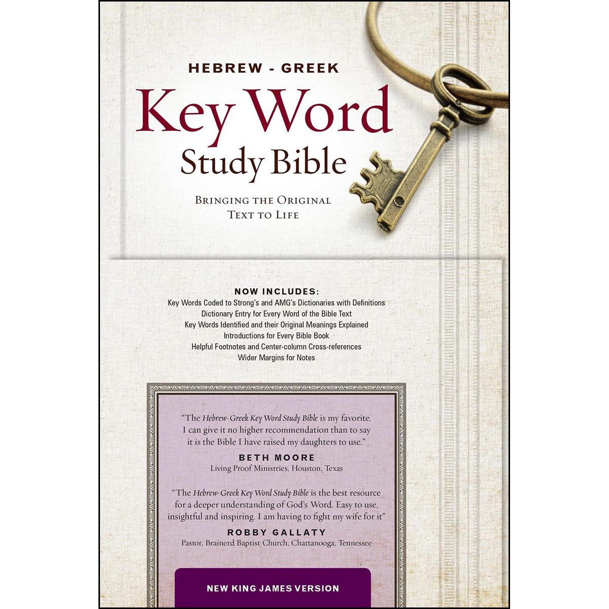 NKJV Hebrew / Greek Key Word Study Bible (Hardcover)