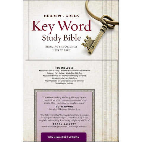 Load image into Gallery viewer, NKJV Hebrew / Greek Key Word Study Bible (Hardcover)