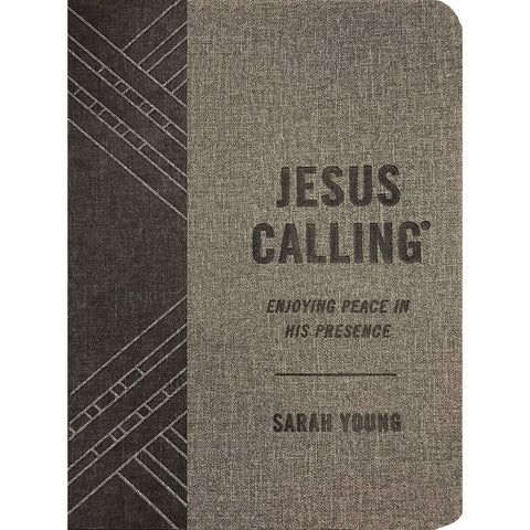Jesus Calling: Enjoying Peace In His Presence Grey (Imitation Leather)