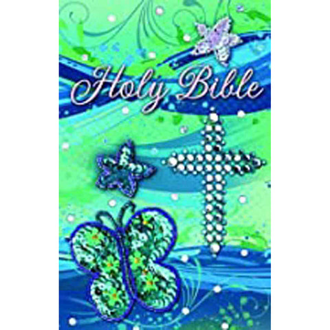 ICB Sequin Bible Teal (Cloth Hardcover)