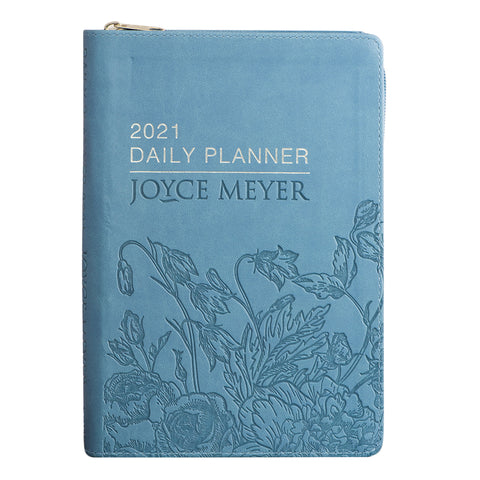 A5 Joyce Meyer Daily Planner 2021 With Zip (Imitation Leather)