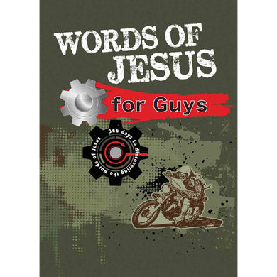 Words of Jesus For Guys (Paperback With Flaps)